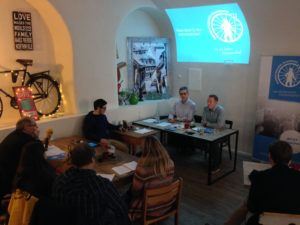 Pressekonferenz zum Radentscheid im Café Leander Bamberg