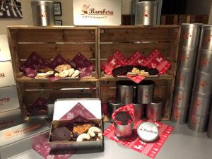 Plätzchen Lebkuchen Nussecken ToGo in der Bamberg Geschenkbox. Einfach himmlisch