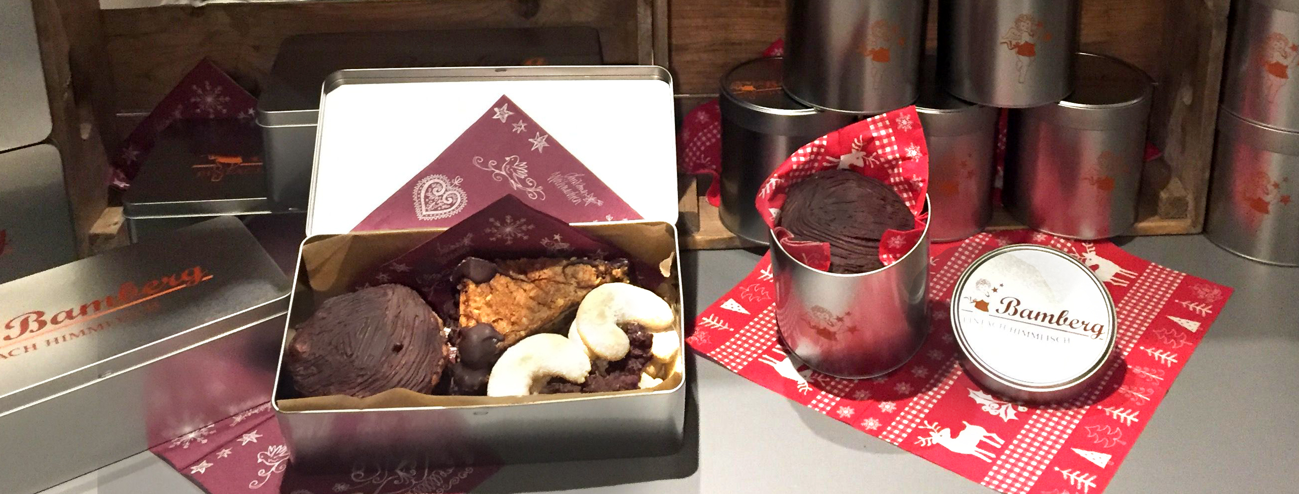 Nussecken ToGo in der Bamberg Geschenkbox. Einfach himmlisch